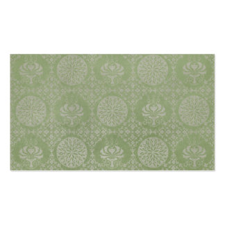 Green Ornamental Pattern Business Cards