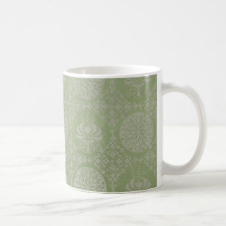 Green Ornamental Pattern Coffee Mugs