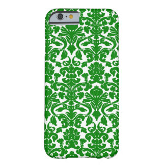 Green Ornate Floral Damask Pattern Barely There iPhone 6 Case