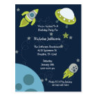 Green Outer Space UFO Birthday Invitation Postcard