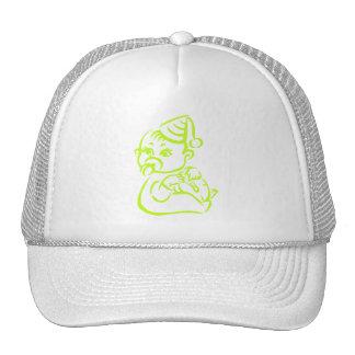 Green outline cap