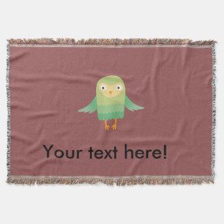 Green owl cartoon