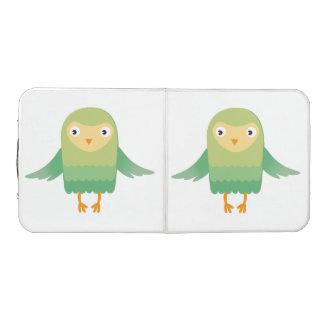 Green owl cartoon pong table