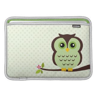 Green Owl Macbook Air Sleeve