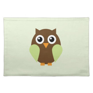 Green Owl Placemat