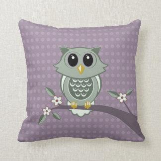Green Owl Polka Dots American MoJo Pillows