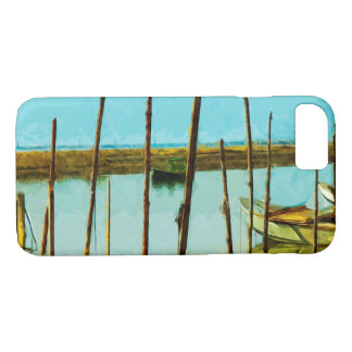 Green Oyster Boat Abstract Impressionist iPhone 7 Case