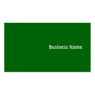 Green Pack Of Standard Business Cards