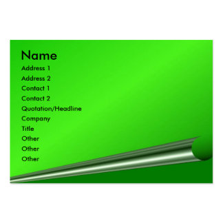 Green Page Curl Profile Card Business Card Template