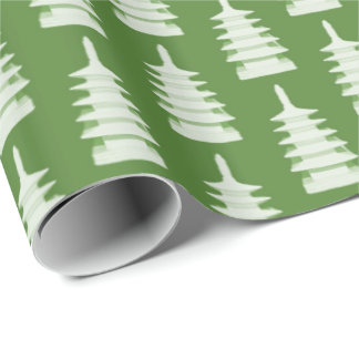Green Pagodas by Redux121DesignStudio Wrapping Paper
