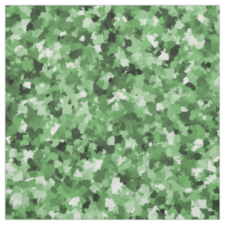 Green Paint Daub Camouflage Abstract Pattern Print Fabric