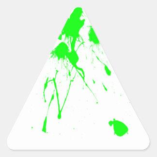 Green paint splatter triangle sticker