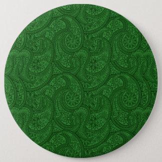Green Paisley 6 Cm Round Badge