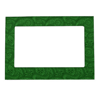 Green Paisley Frame Magnet
