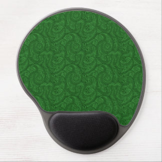 Green Paisley Gel Mouse Pad