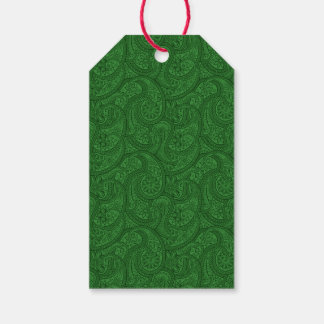 Green Paisley Gift Tags