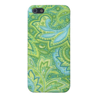 Green Paisley iPhone 5/5S Case