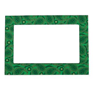 Green paisley magnetic frames