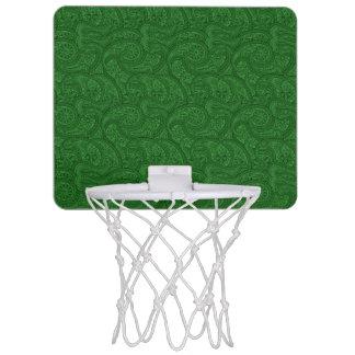 Green Paisley Mini Basketball Hoop