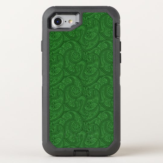 Green Paisley OtterBox Defender iPhone 8/7 Case