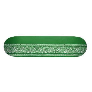 Green Paisley Skateboard Pro
