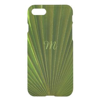 Green Palm Leaf Monogrammed iPhone 7 Case