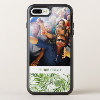 Green Palm Leaves | Add Your Photo & Text OtterBox Symmetry iPhone 7 Plus Case