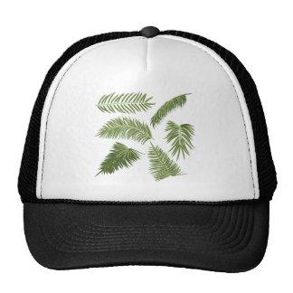 Green Palm Leaves Cap