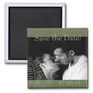 Green Palm Save the Date Magnet