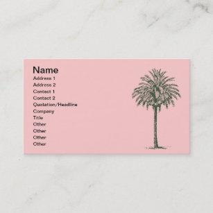 Green palm tree business cards zazzle au green palm tree business card colourmoves