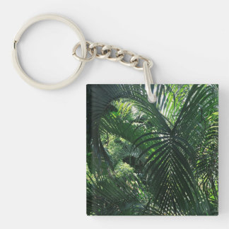 Green Palm Tree Kaychain Key Ring