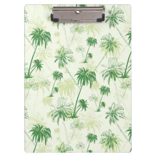 Green Palm Tree Pattern Clipboards