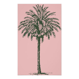 Green Palm Tree Posters