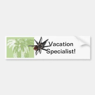 Green palm trees with tarantula bumper sticker