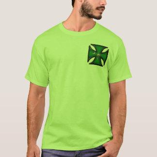 Green Palmetto Tree Iron Cross T-Shirt