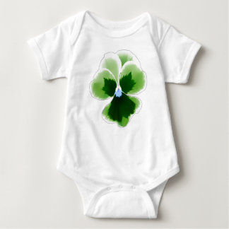 Green Pansy Flower 201711d Baby Bodysuit
