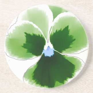Green Pansy Flower 201711d Coaster