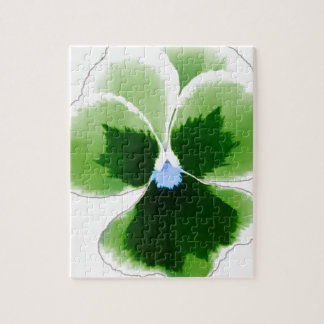 Green Pansy Flower 201711d Jigsaw Puzzle