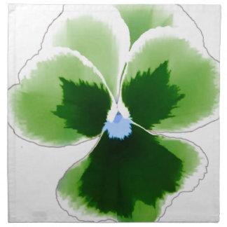 Green Pansy Flower 201711d Napkin