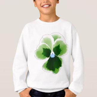 Green Pansy Flower 201711d Sweatshirt