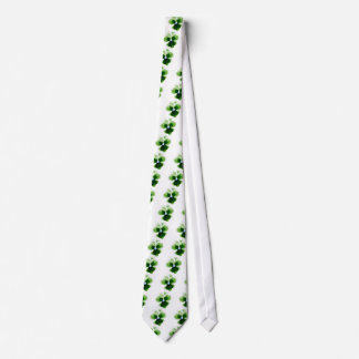 Green Pansy Flower 201711d Tie