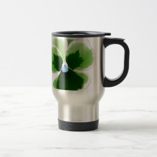 Green Pansy Flower 201711d Travel Mug
