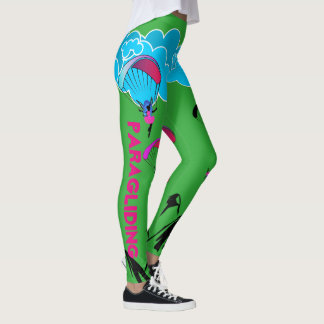 Green Paragliding Pixie Leggings