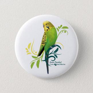 Green Parakeet 6 Cm Round Badge
