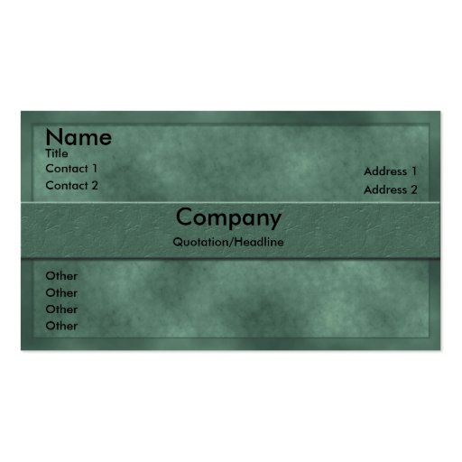 Green Parchment Business Card