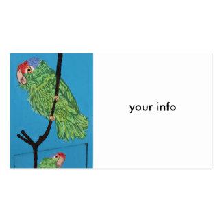 green parrot business card