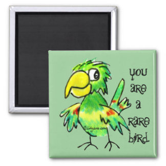 Green Parrot Magnet