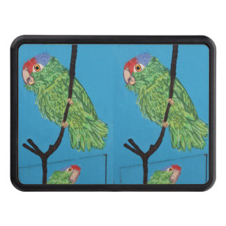 green parrots trailer hitch cover