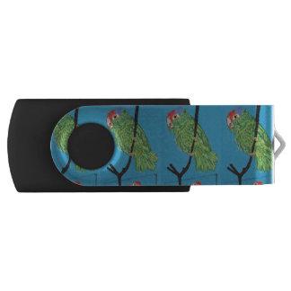 green parrots USB hard drive Swivel USB 3.0 Flash Drive