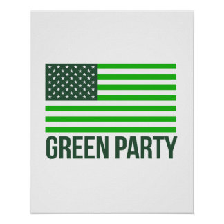 Green Party Flag - - Jill Stein 2016 - Poster